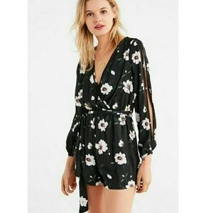 Urban Outfitters Anemone Split Sleeve Romp…